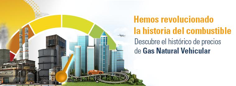 Grupo Vanti Precio histórico del Gas Natural Vehicular